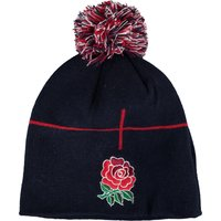 England Rugby Acrylic Stripe Bobble Hat Navy