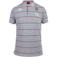 England Rugby Stripe Polo Grey