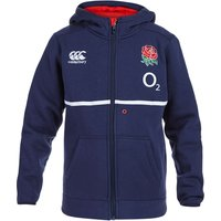 England Rugby Training Full Zip Hoody - Kids Navy