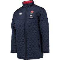England Rugby Full Length Padded Jacket Navy