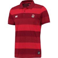 England Rugby Textured Stripe Pique Polo