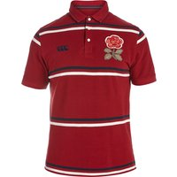 England Rugby 1871 Short Sleeve Stripe Pique Polo