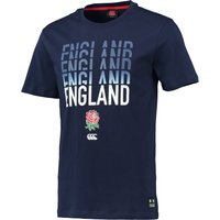 England Rugby Stacked T-Shirt Navy