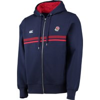 England Rugby Chest Stripe Zip Thro Hoody Navy