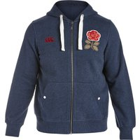 England Rugby 1871 Zip Through Hoody Navy
