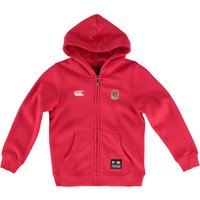 England Rugby Zip Thro Hoody - Kids Red