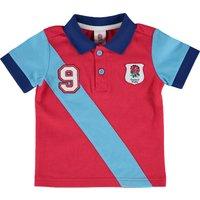 England No 9. Polo Shirt - Red/Blue
