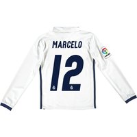 Real Madrid Home Jersey 2016/17 - Kids - Long sleeve - with Marcelo 12