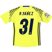Real Madrid Away Goalkeeper Shirt 2016-17 - Kids with R.Yanes 31 print