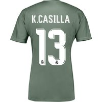 Real Madrid Home Goalkeeper Shirt 2017-18 with K.Casilla 13 printing