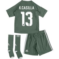 Real Madrid Home Goalkeeper Mini Kit 2017-18 with K.Casilla 13 printing