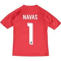Real Madrid Away Goalkeeper Shirt 2017-18 - Kids with Navas 1 printing
