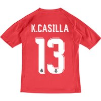 Real Madrid Away Goalkeeper Shirt 2017-18 - Kids with K.Casilla 13 printing