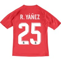 Real Madrid Away Goalkeeper Shirt 2017-18 - Kids with R.Yáñez 25 printing