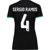 Real Madrid Away Shirt 2017-18 - Womens with Sergio Ramos 4 printing