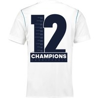 Real Madrid Home Shirt 2017-18 with Champions 12 printing