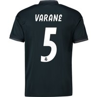Real Madrid Away Shirt 2018-19 with Varane 5 printing