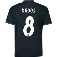 Real Madrid Away Shirt 2018-19 with Kroos 8 printing