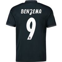 Real Madrid Away Shirt 2018-19 with Benzema 9 printing