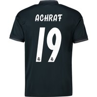 Real Madrid Away Shirt 2018-19 with Achraf 19 printing