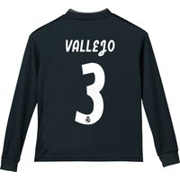 Real Madrid Away Shirt 2018-19 - Long Sleeve - Kids with Vallejo 3 printing