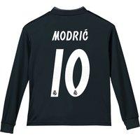 Real Madrid Away Shirt 2018-19 - Long Sleeve - Kids with Modric 10 printing
