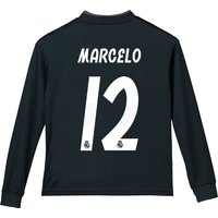 Real Madrid Away Shirt 2018-19 - Long Sleeve - Kids with Marcelo 12 printing