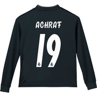 Real Madrid Away Shirt 2018-19 - Long Sleeve - Kids with Achraf 19 printing