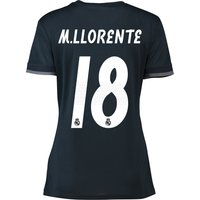 Real Madrid Away Shirt 2018-19 - Womens with M. Llorente 18 printing