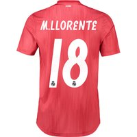 Real Madrid Third Authentic Shirt 2018-19 with M. Llorente 18 printing