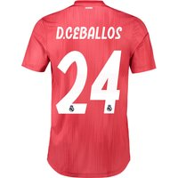 Real Madrid Third Authentic Shirt 2018-19 with D. Ceballos 24 printing