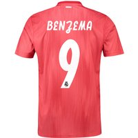Real Madrid Third Shirt 2018-19 with Benzema 9 printing