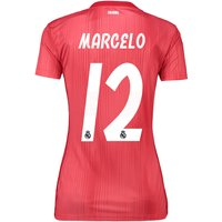 Real Madrid Third Shirt 2018-19 - Womens with Marcelo 12 printing