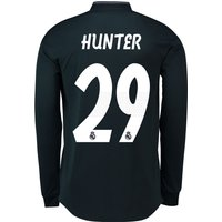 Real Madrid Away Authentic Shirt 2018-19 - Long Sleeve with Hunter 29 printing