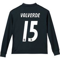 Real Madrid Away Shirt 2018-19 - Long Sleeve - Kids with Valverde 15 printing