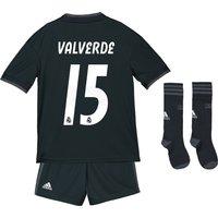 Real Madrid Away Kids Kit 2018-19 with Valverde 15 printing
