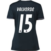 Real Madrid Away Shirt 2018-19 - Womens with Valverde 15 printing