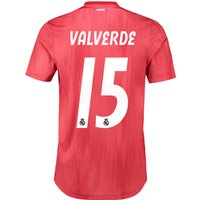Real Madrid Third Authentic Shirt 2018-19 with Valverde 15 printing
