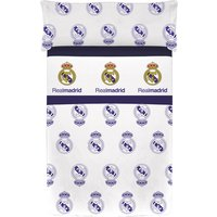 Real Madrid JS Velvet Estadio 3 Piece Bedsheet Set - 160 x 260cm