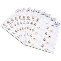 Real Madrid Sticker Name Labels