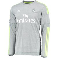 Real Madrid Away Shirt 2015/16 - Long Sleeve - Grey