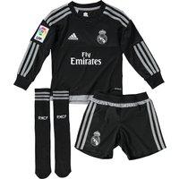 Real Madrid Home Goalkeeper Mini Kit 2015/16 - Black