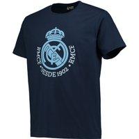 Real Madrid Tonal Crest T-Shirt - Navy - Junior