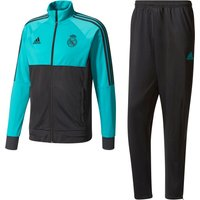 Real Madrid Training Presentation Suit - Turquoise