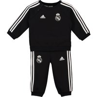 Real Madrid 3 Stripe Baby Jogger - Black