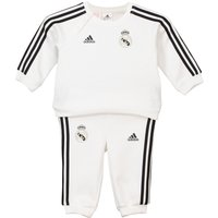 Real Madrid 3 Stripe Baby Jogger - White