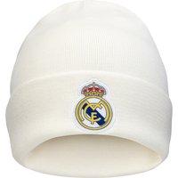Real Madrid 3 Stripe Woolie Hat - White