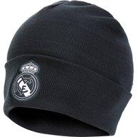 Real Madrid 3 Stripe Woolie Hat - Dark Grey