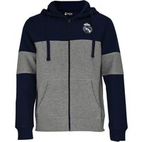 Real Madrid Colour Block Hoodie - Grey/Navy - Mens