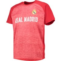 Real Madrid Panelled T-Shirt - Red - Mens